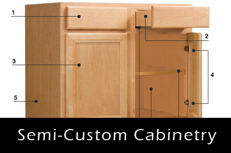 Custom kitchen cabinets installation castle vision for Semi custom cabinets